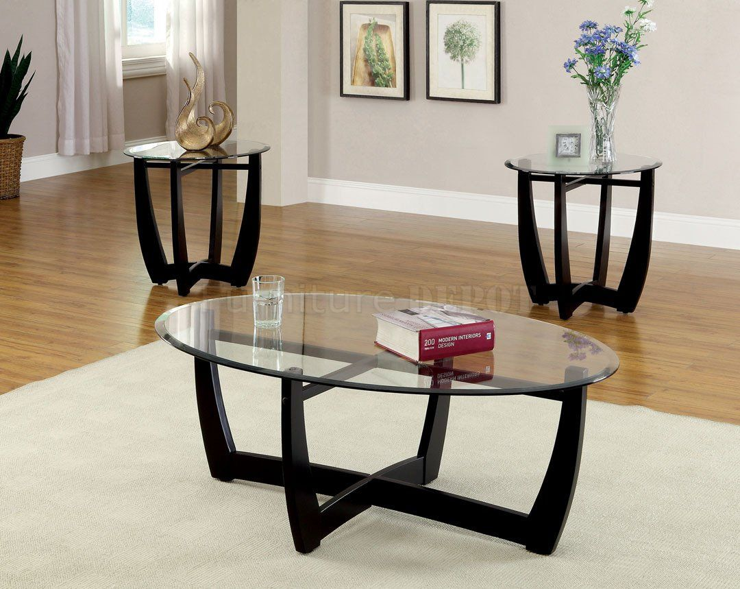 Cm4848 3pk Dafni Coffee Table 2 End Tables 3pc Set In Black Living Room Table Sets Coffee Table End Table Set Coffee Table [ 859 x 1080 Pixel ]