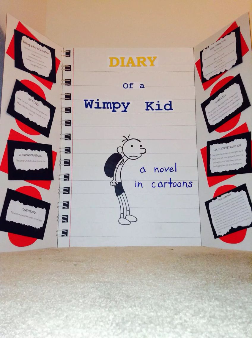 Diary of a Wimpy Kid project | My DIY projects! | Pinterest | Gregs ...