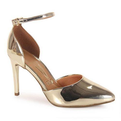a71eecfff Sapato Scarpin Feminino Vizzano Dourado(a) - Americanas.com   Sapatos