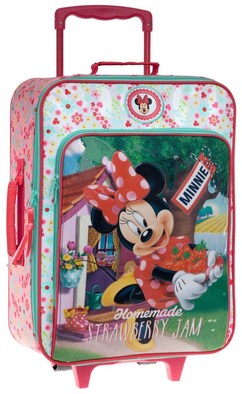 200671efc Maleta Minnie infantil Minnie modelo Satin en color rosa, dispone de 2  ruedas