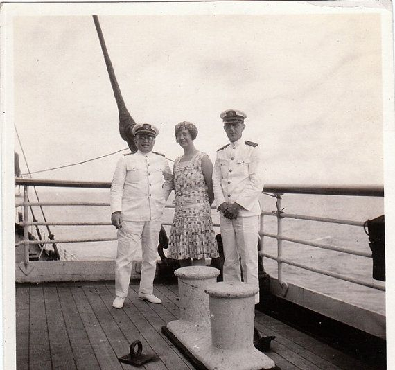 Meeting The Captain Ocean Liner Cruise Ship S Vintage - 1930s cruise ships
