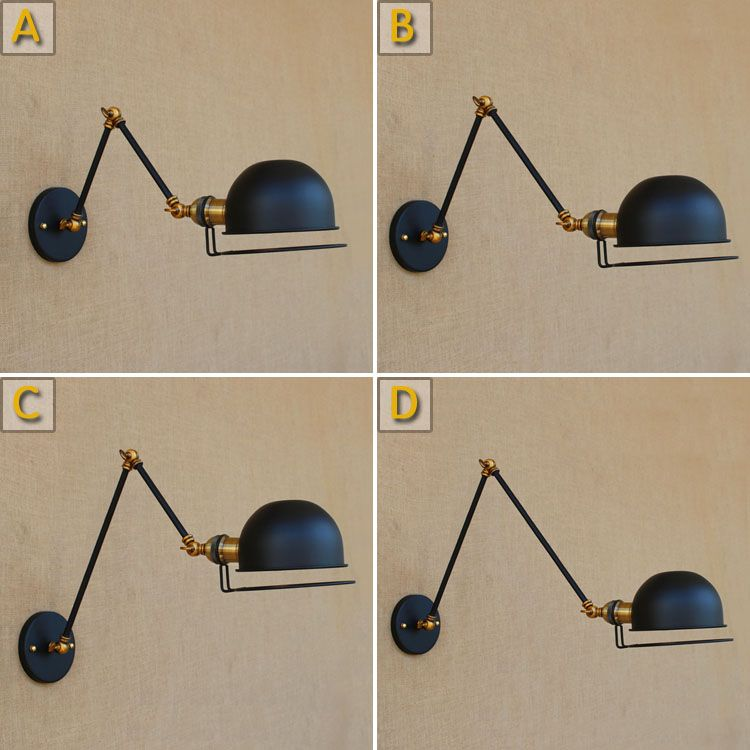 Double Swing Long Arm Vintage Wall Lamp Adjustable Lampen Wandlamp Edison  Loft Style Industrial Wall Sconce Appliques Pared #Affiliate