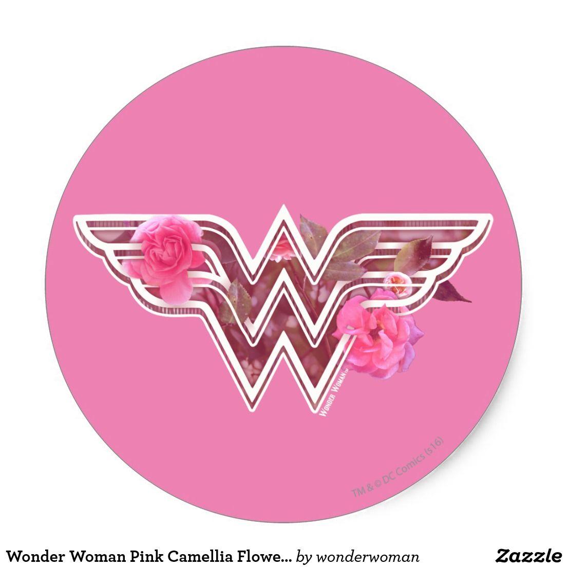 Wonder Woman Pink Camellia Flowers Logo Classic Round Sticker Zazzle Com Wonder Woman Design Wonder Woman Logo Wonder Woman [ 1106 x 1106 Pixel ]