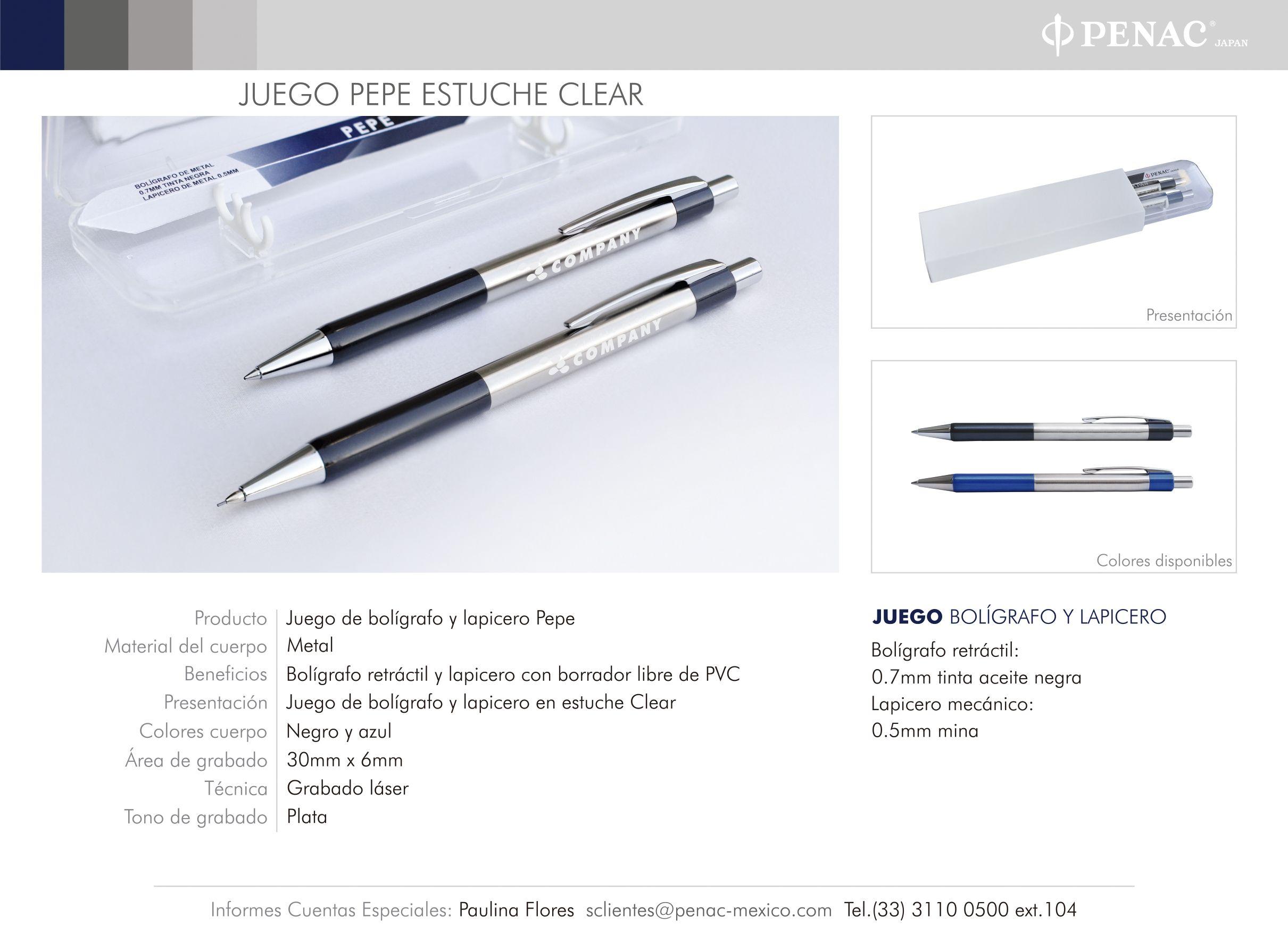 Promocionales Corporativos Juego Pépé Estuche Clear