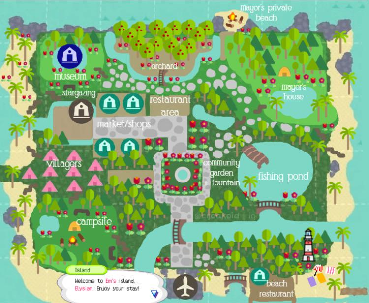 """here's my design! for an island called """"elysian"""" open to any suggestions!!…"""