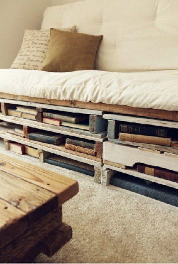 Holzpaletten auflagen weich DIY Betten Paletten Pinterest - holzpaletten regal