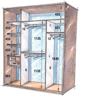 Medidas orientativas para placares de 2,70 m de altura Muebles