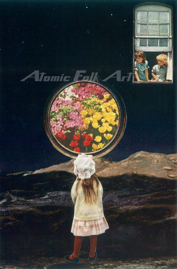 Window to another world by atomic folk art collage visual art