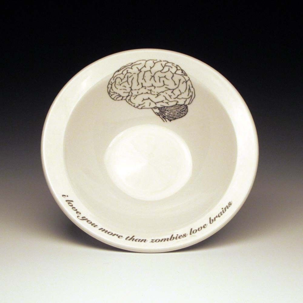 zombies love brains cereal Bowl. $18.00, via Etsy. | Products I Want ...