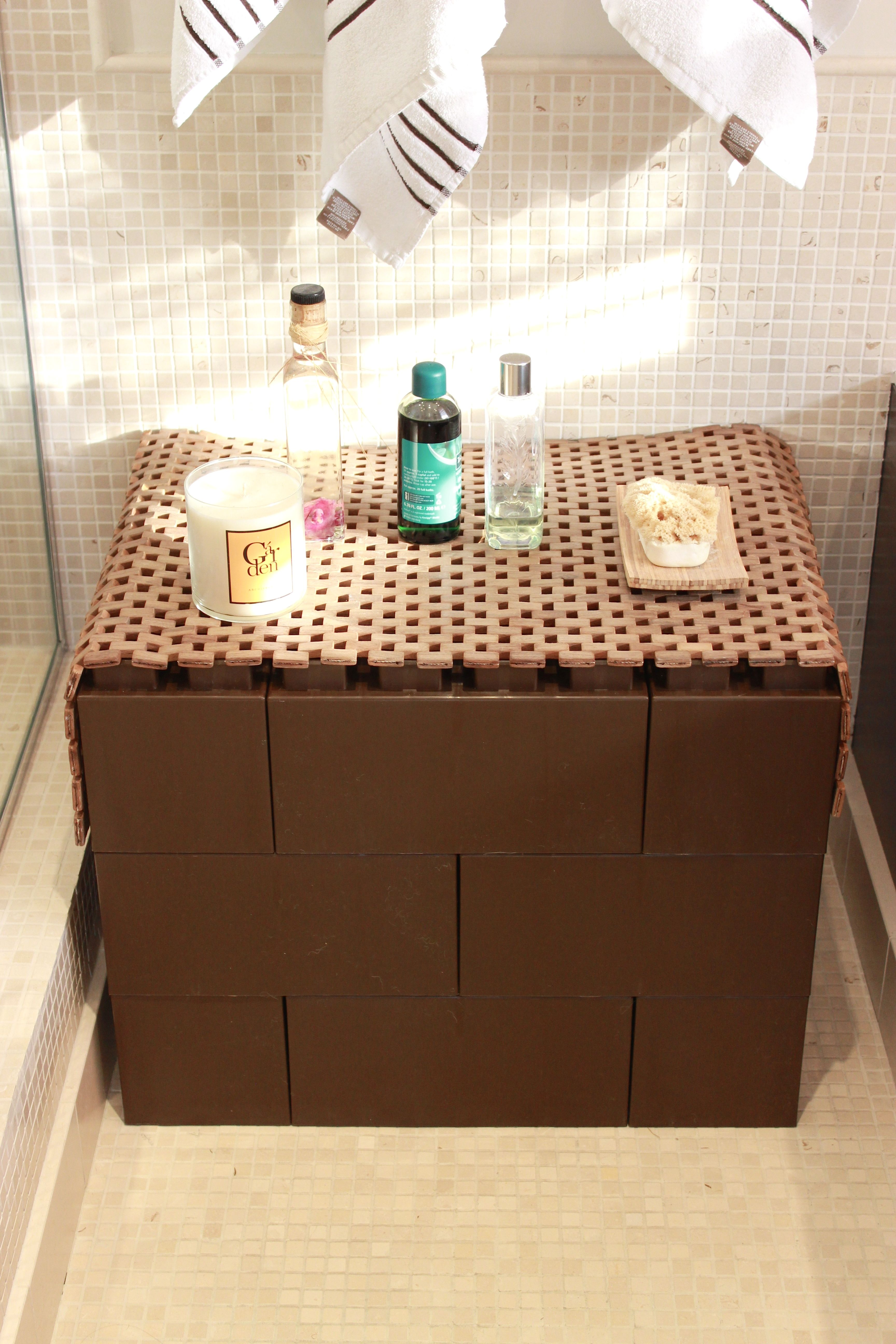 Waterproof Table For Bathroom Built Using Everblock Modular