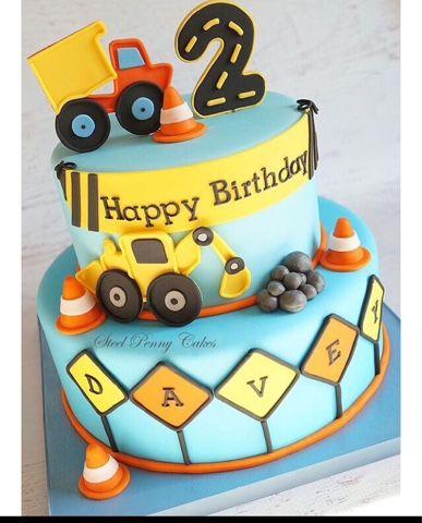 ...: İnşaat Temalı Pastalar - Construcktion Birthday Cake