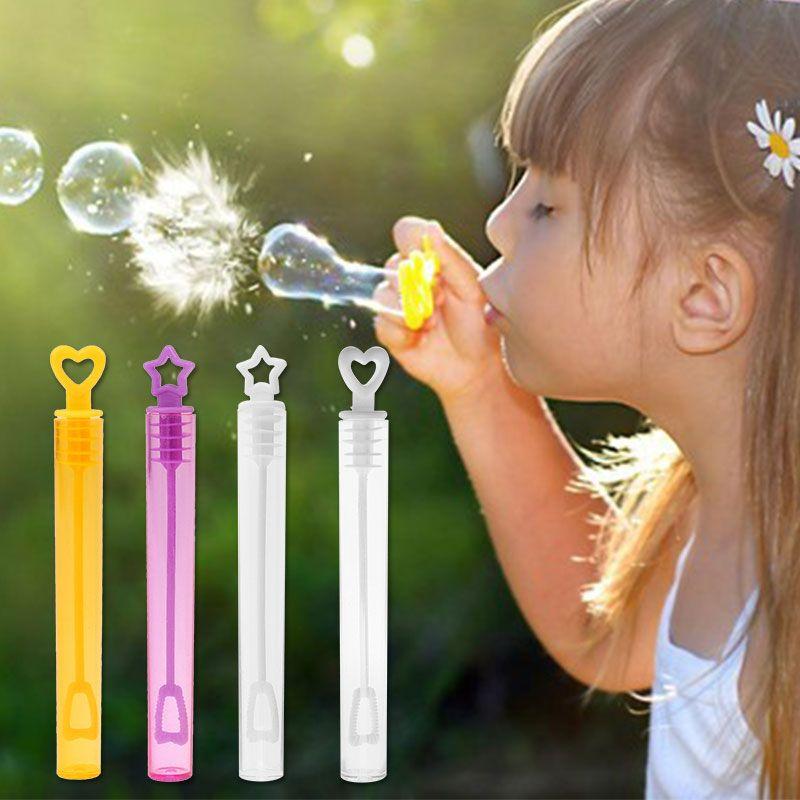 Corazon Estrella Burbujas Hacer Juguete Ninos Al Aire Libre