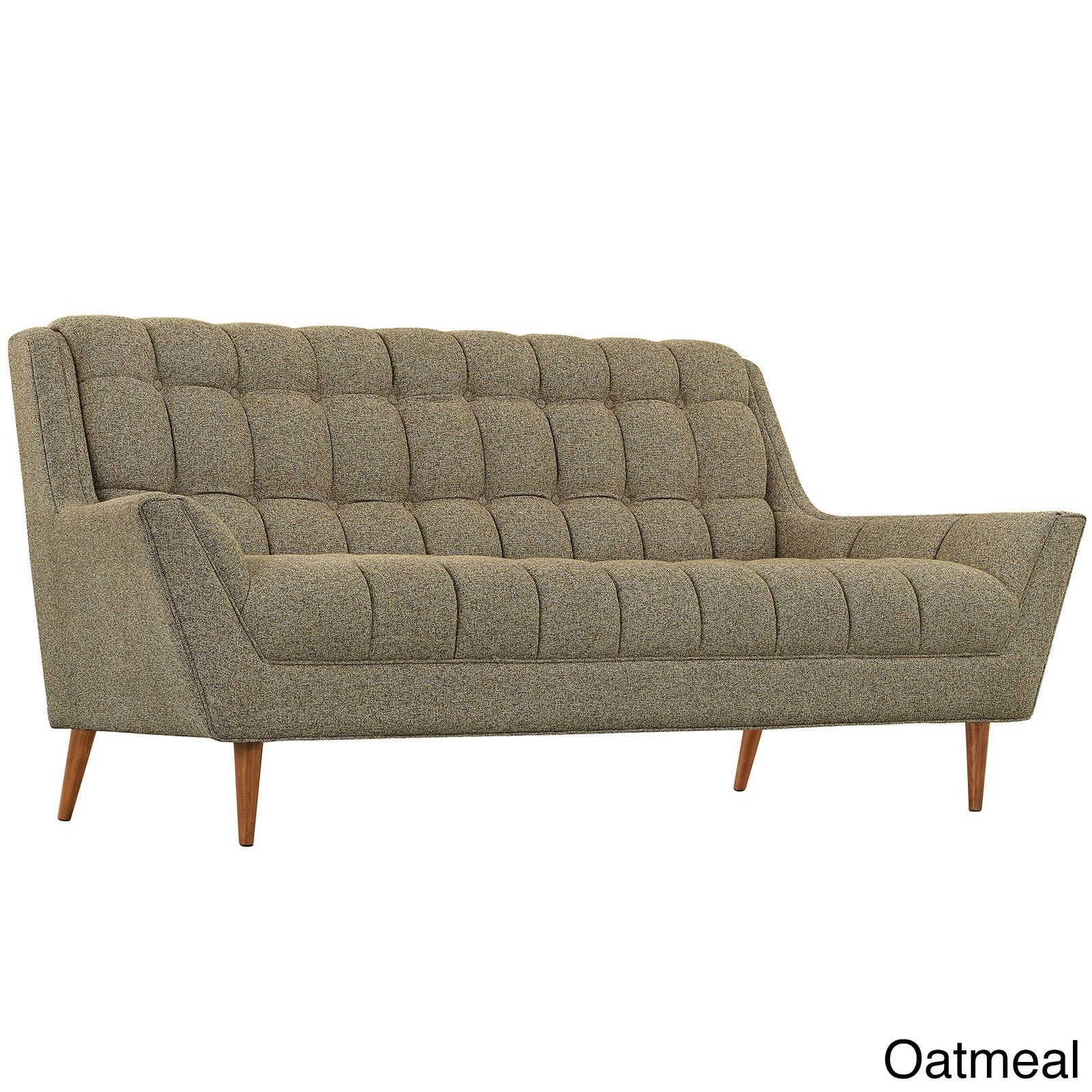 Admirable Modway Response Fabric Mid Century Tufted Loveseat Oatmeal Lamtechconsult Wood Chair Design Ideas Lamtechconsultcom