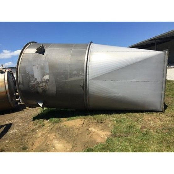9 Ft In Dia X Two Flanged Vertical Sections 10 Ft Tall Flanged Section With Separate Roof Top Section Has Two Tangential Inlets Cyclone Inlet Vertical