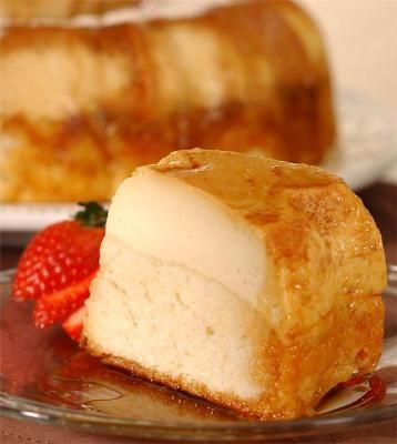 Andrea's winning recipe in our 2007 contest is her self-proclaimed World Famous Flan Cake. Here at Pamela's we don't disagree, as this is one divine dessert.