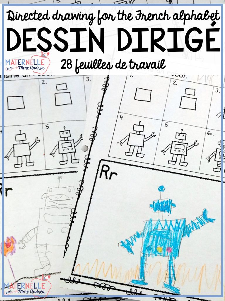 Dessin Dirig Directed Drawing For The French Alphabet Motor