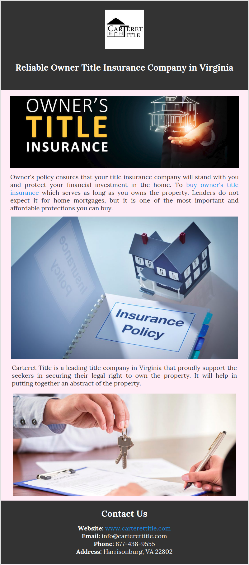 Owner S Policy Ensures That Your Title Insurance Company Will