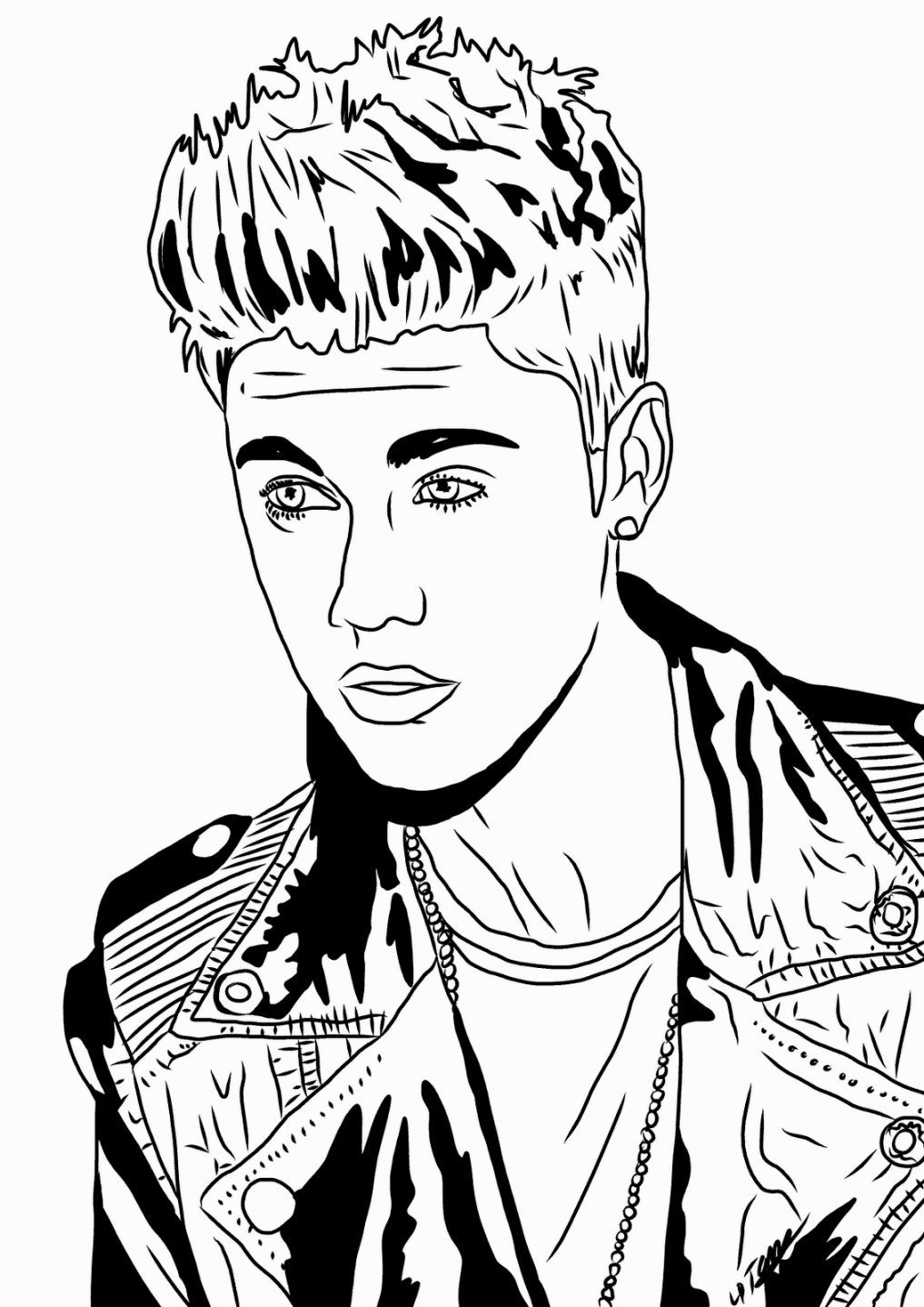 Coloring Sheets Justin Bieber Coloring Pages Pinterest