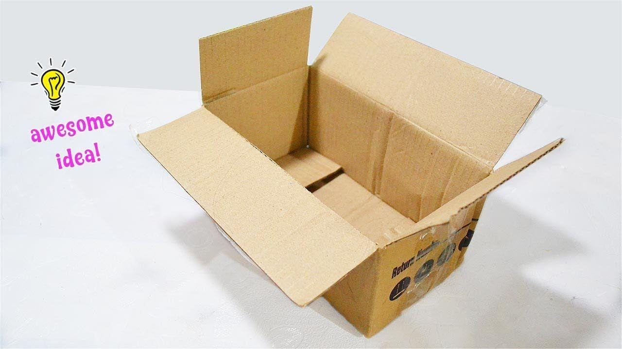 Amazing Cardboard Box Idea That You Can Easily Make Easy And Creative W Caja Manualidades Cajas Manualidades