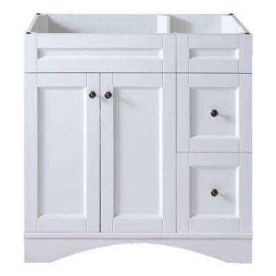 Virtu Usa Elise 36 In W Bath Vanity Cabinet Only In White Es 32036 Cab Wh Single Sink Bathroom Vanity Vanity Cabinet Bathroom Vanity Cabinets