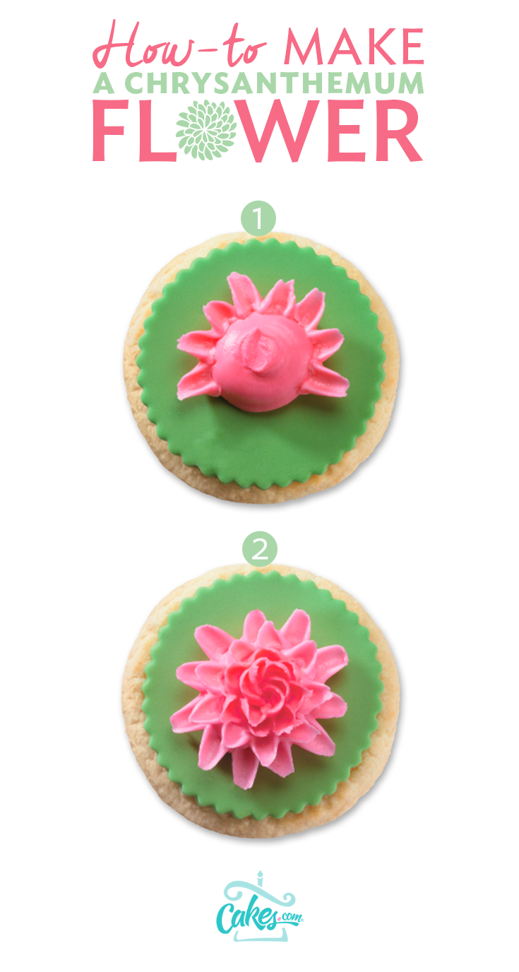 Make A Buttercream Chrysanthemum Flower With Piping Tip 143