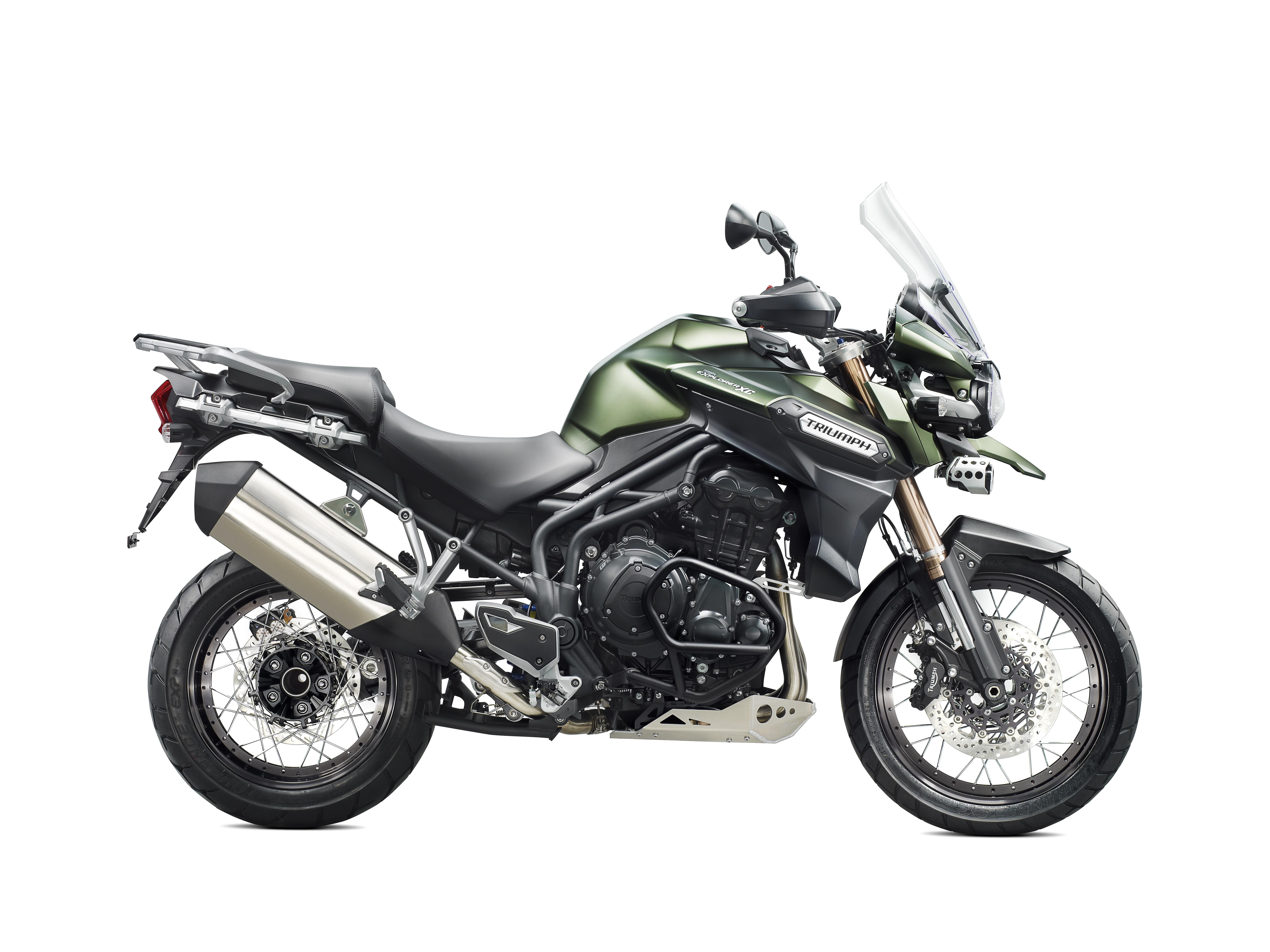 Tiger explorerxc khaki green motociclette triumph