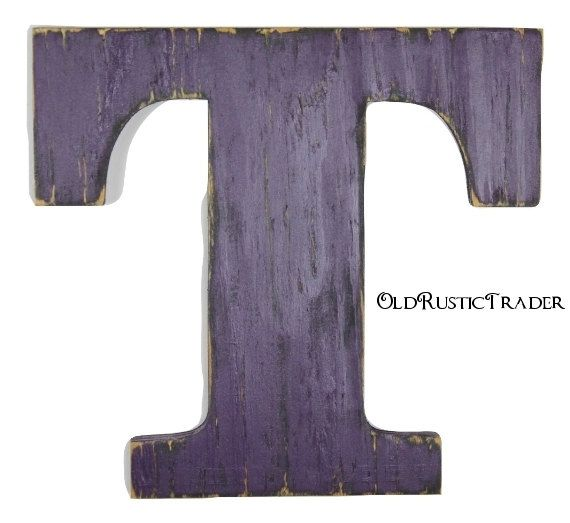 Hanging Wooden Letter T Gifts Wedding Decor 12 Inch Wood Letter Wall Decor Letters Housewares Home Hanging Wooden Letters Wood Letter Wall Decor Wooden Letters