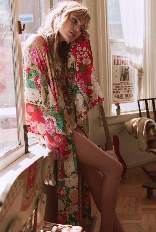 60d0fd05b6983 2018 Boho Long Dress Kimono - Nostalgiastyles Clothing Store Co ...