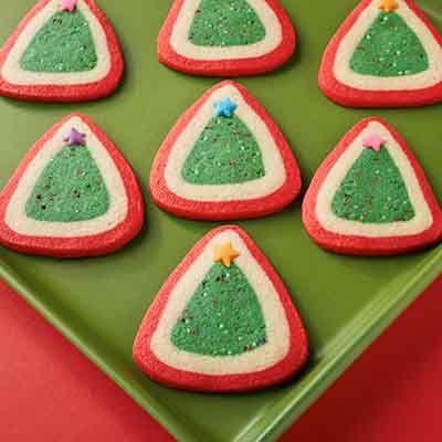Christmas Tree Slice & Bake Cookies