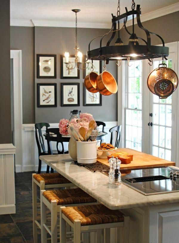 Graue Wandfarbe Küche Esszimmer Grau