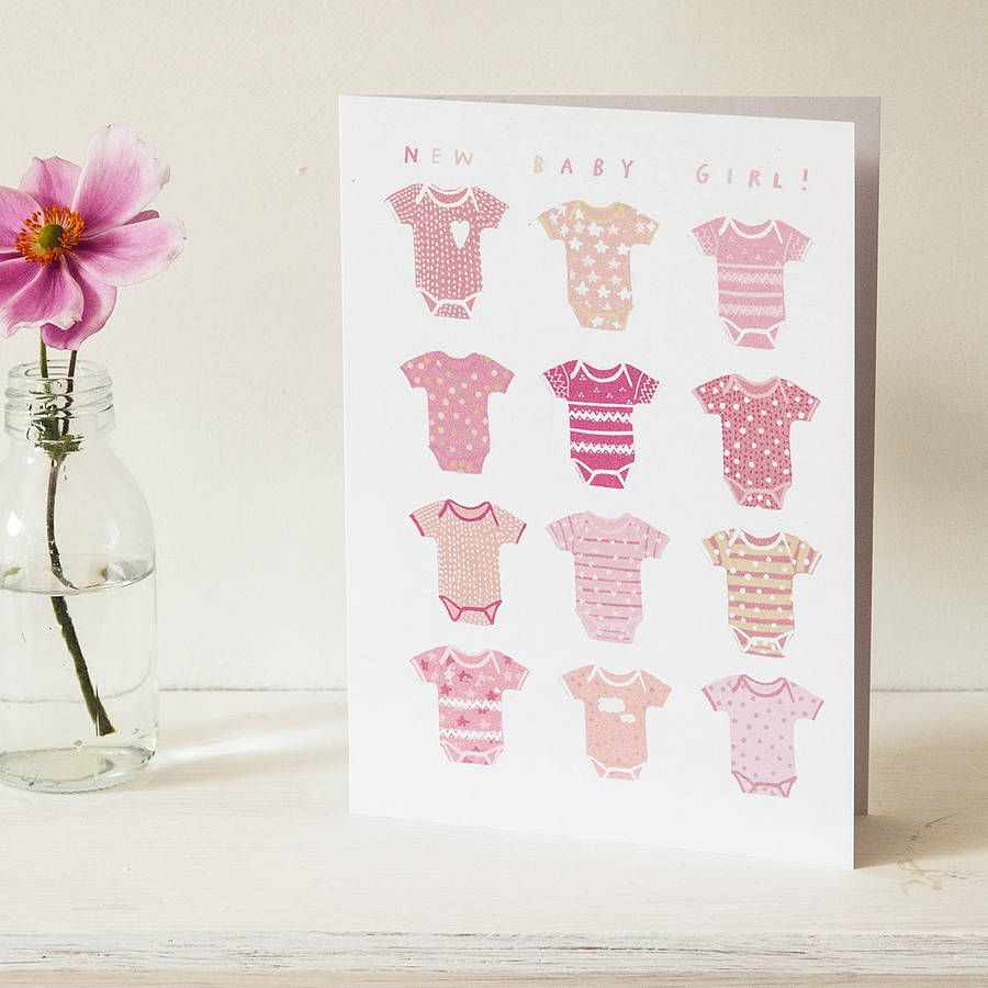 New Baby Girl Greeting Card Greeting Cards Pinterest Baby