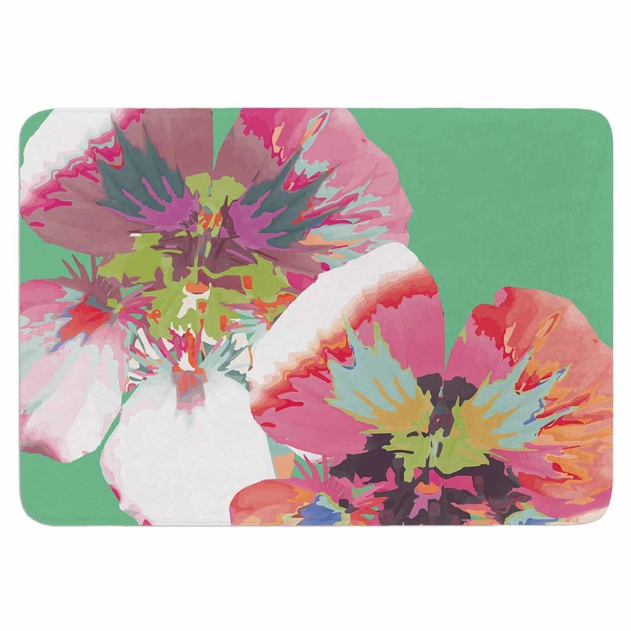 Graphic Flower Nasturtium by Love Midge Memory Foam Bath Mat
