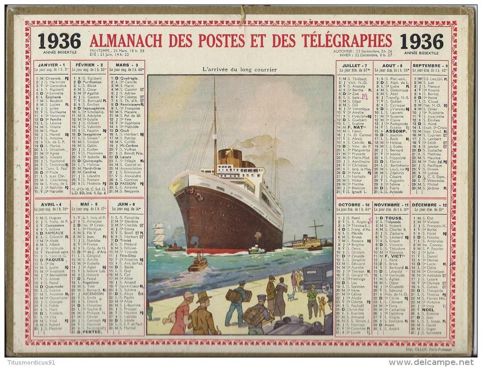 calendrier 1936