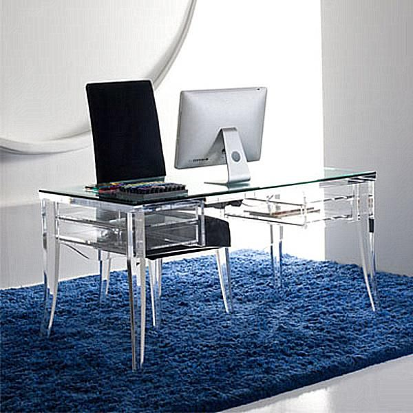 Charmant Fabulous Work Space With Acrylic Home Office Desks: Lawrence Desk By H  Studio