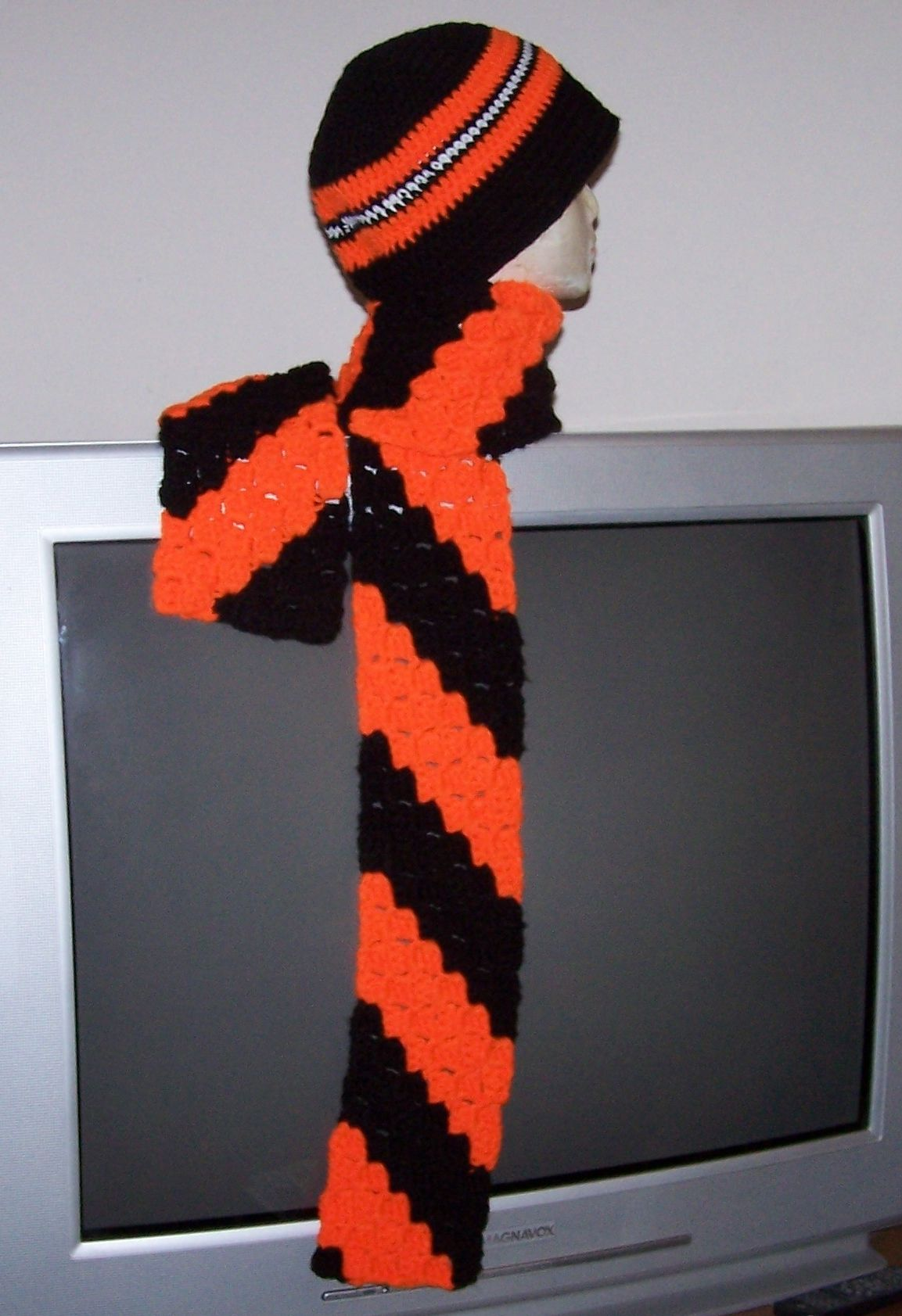 90aaa02d Cincinnati Bengals Hat and C2C Scarf | Completed Crochet Projects ...