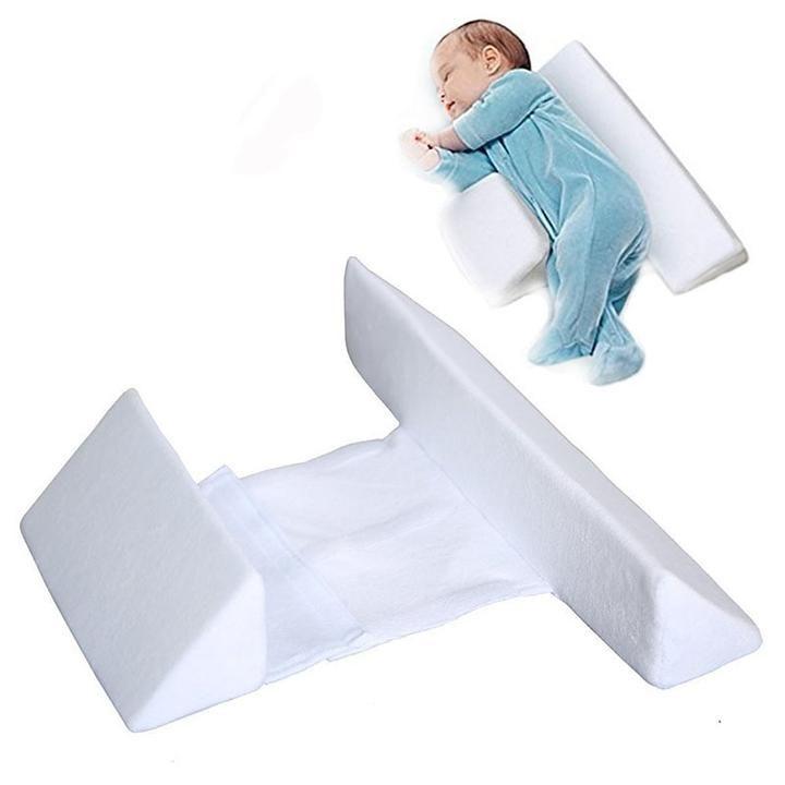 Kid Infant Cute Anti Roll Sleep Cushion Baby Prevent Flat Head Positioner Pillow