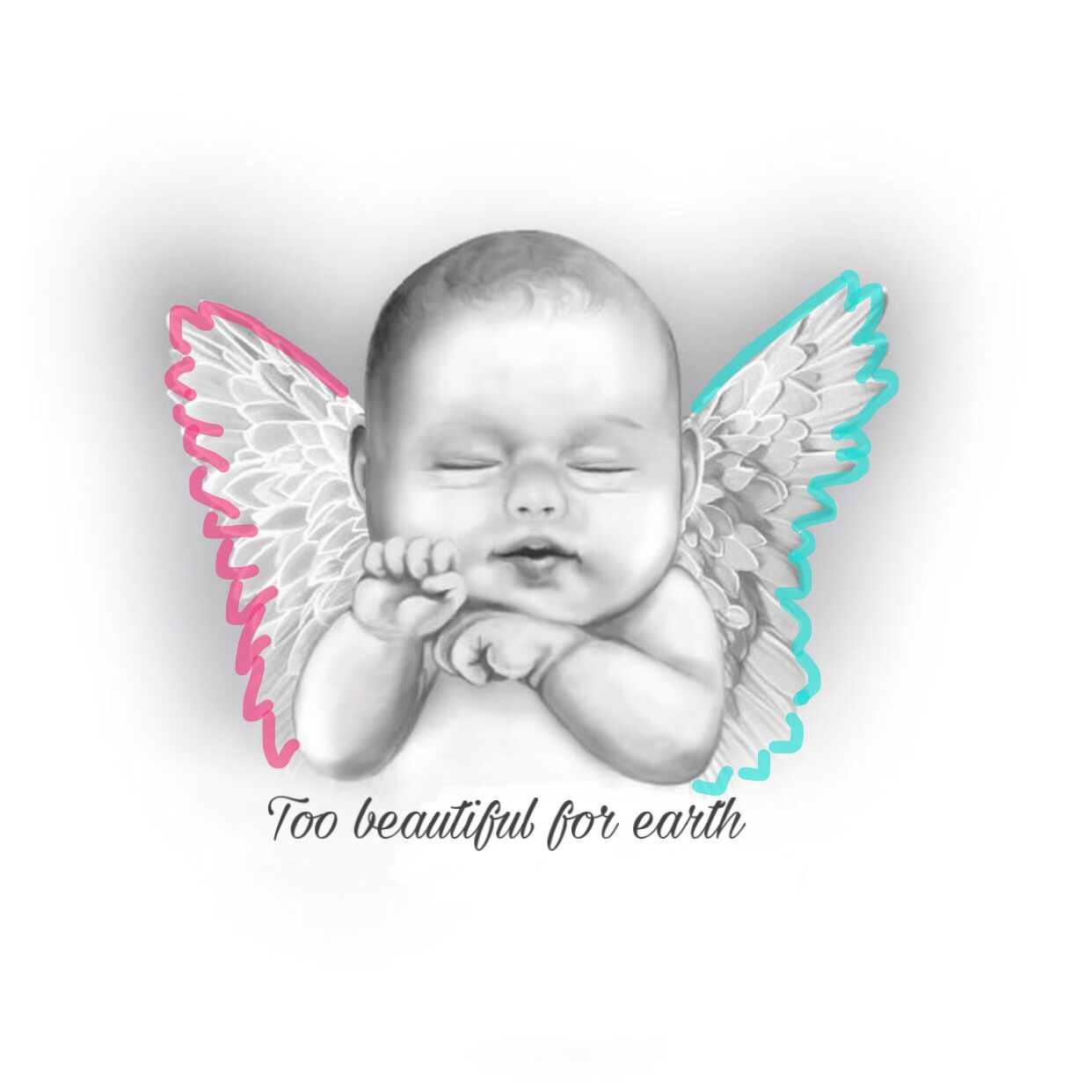 Memorial Tattoo For Baby Sibling Baby Angel Wings Baby Angel Tattoo Baby Tattoos