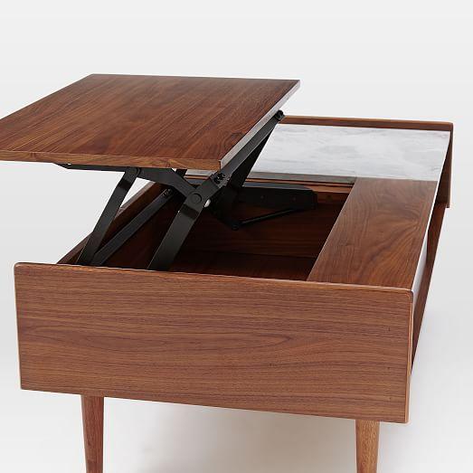 Pop Up Coffee Table.Mid Century Pop Up Storage Coffee Table Walnut Futurehome