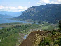 Columbia river near Troutdale, Oregon