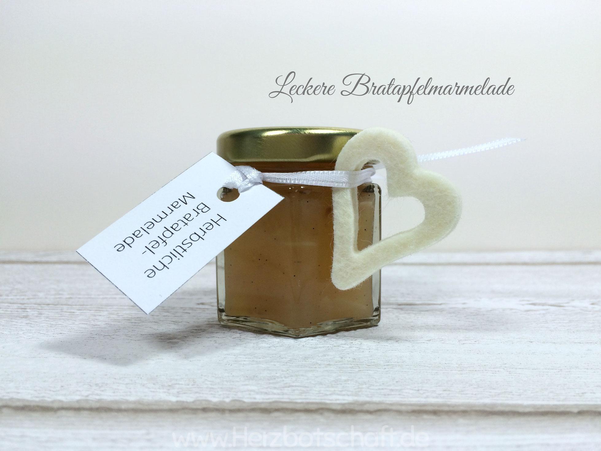 Rezept: Bratapfelmarmelade kochen - ♥ Herzbotschaft.de