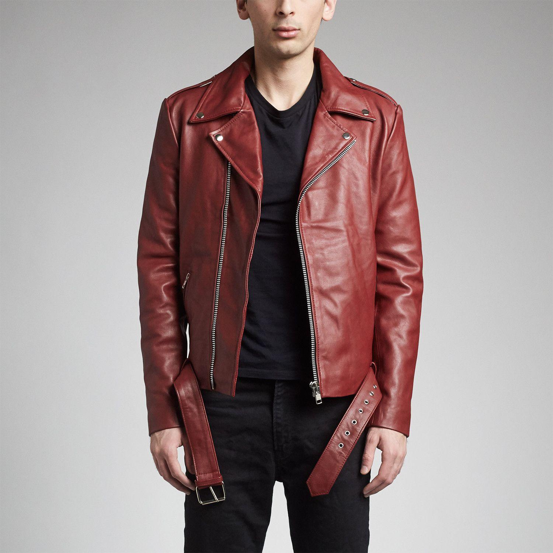 Ares Biker Jacket Burgundy Modern Decors In 2019 Jackets Leather Fabric Biker