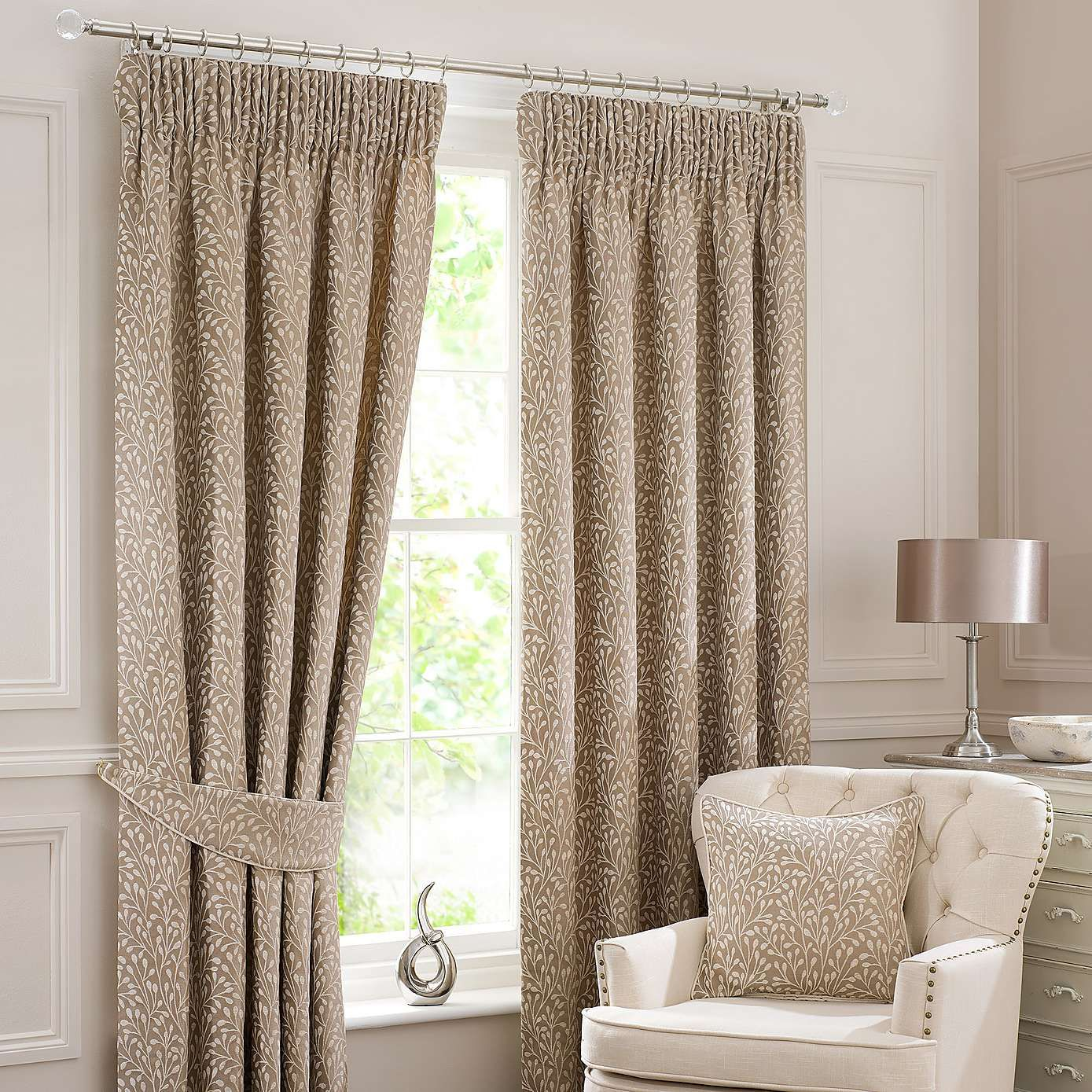 Willow cream lined pencil pleat curtains dunelm living room browns pinterest pleated for Lined valances for living room