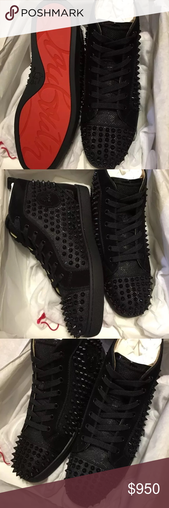 974211b8333 Christian Louboutin Louis Orlato Spikes Mens Flats 100% Authentic ...