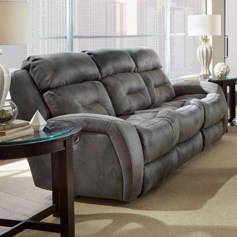 Double Reclining Power Headrest Sofa Best Leather Sofa Southern