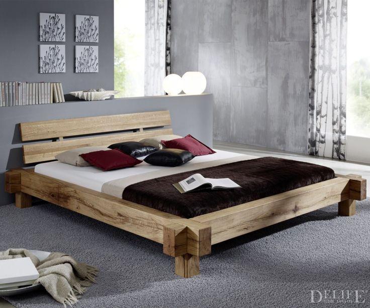 Bett Ferida 180x200 cm Wildeiche geölt Holzbett massiv Beds - schlafzimmer set 180x200