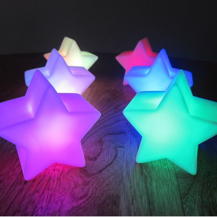 Light Up Led Star Centerpiece Lights For Glow Party Star Centerpieces Glow Party Star Decorations
