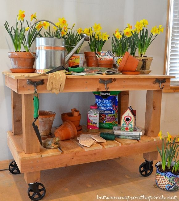 Build A Potting Table Great For Parties Too