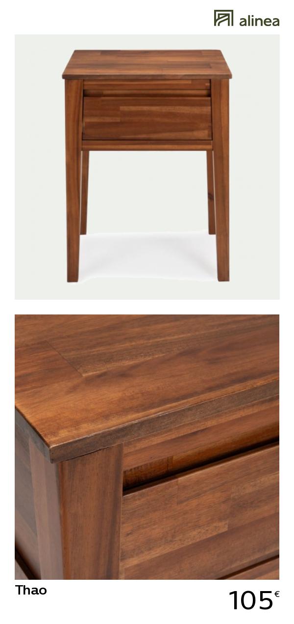 table de chevet en acacia massif 1