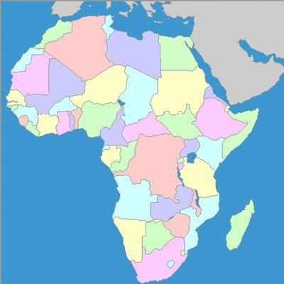 Map Of Africa Without Country Names Pin on Africa