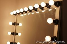 Diy hollywood style mirror with lights tutorial from scratch for diy hollywood style mirror with lights tutorial from scratch for real aloadofball Image collections